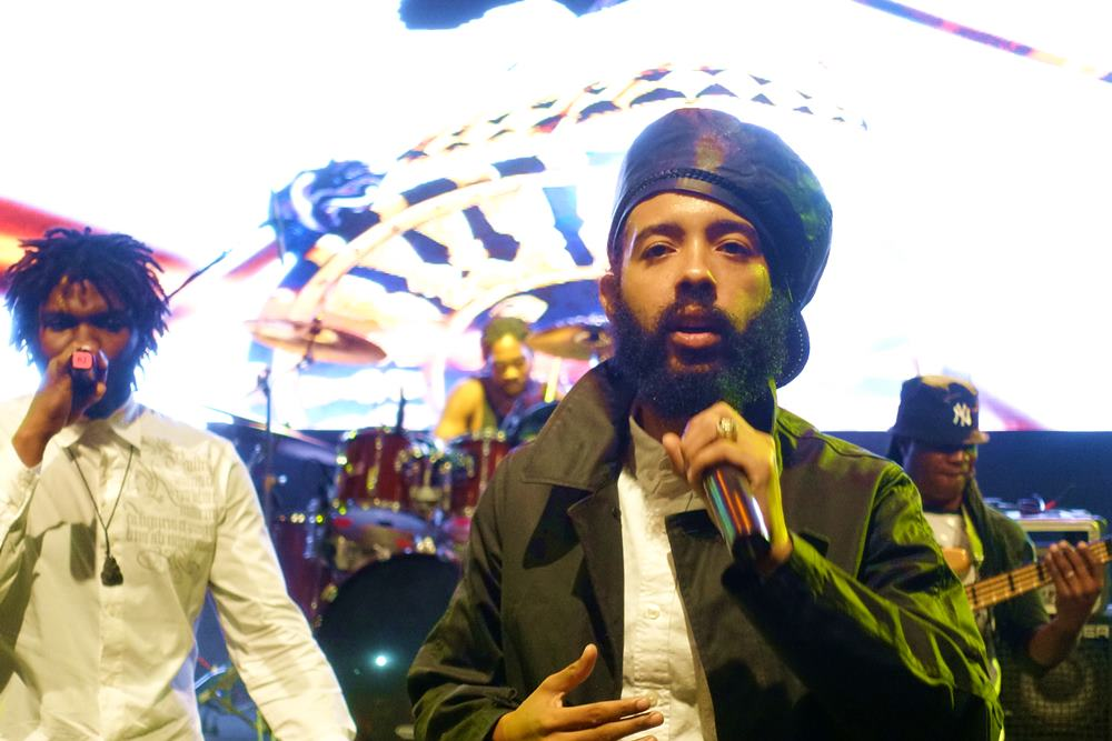 Mortimer and Protoje performing  Protection