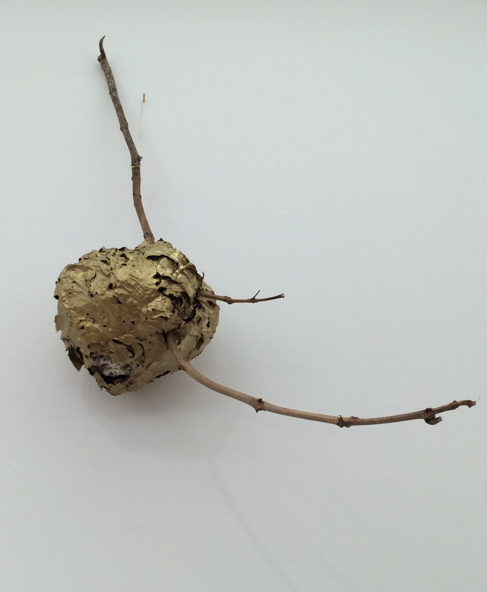 Gilded Hornets Nest2_Porcelain and organic nest Christian Bradley West.jpg