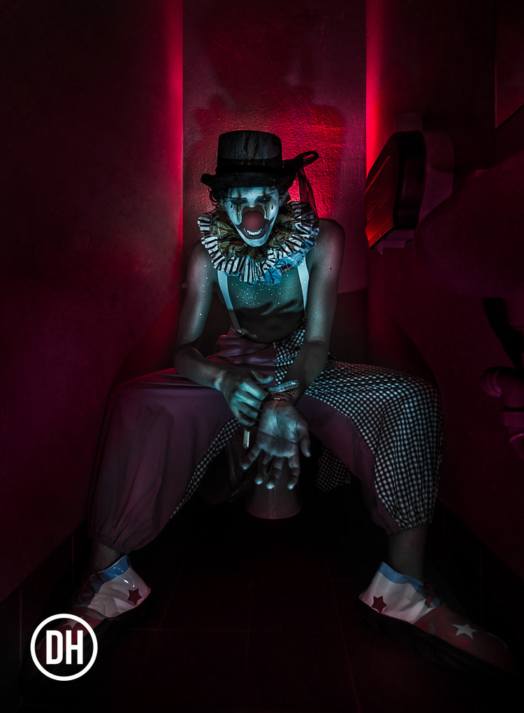 "Image from the ""Suicide Clowns"" series"