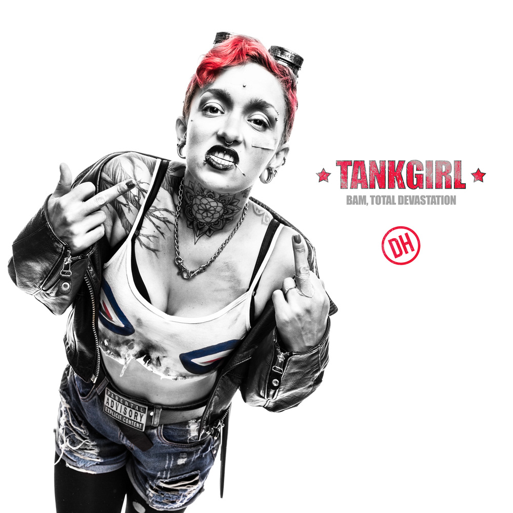 "Poster from the ""Tank Girl"" series."