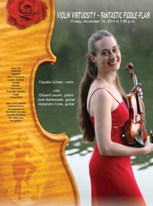 Poster For Violin Virtuosity Concert At The Bloomingdale School Of Music