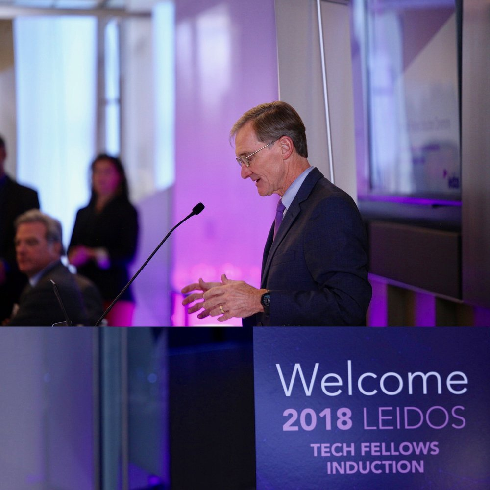 Roger Krone, CEO of Leidos Speaking during The 2018 Tech Fellows Induction At Leidos HQ