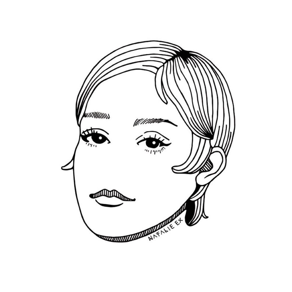 Portrait drawing of Chloe Sevigny by Melbourne Illustrator, Natalie Ex