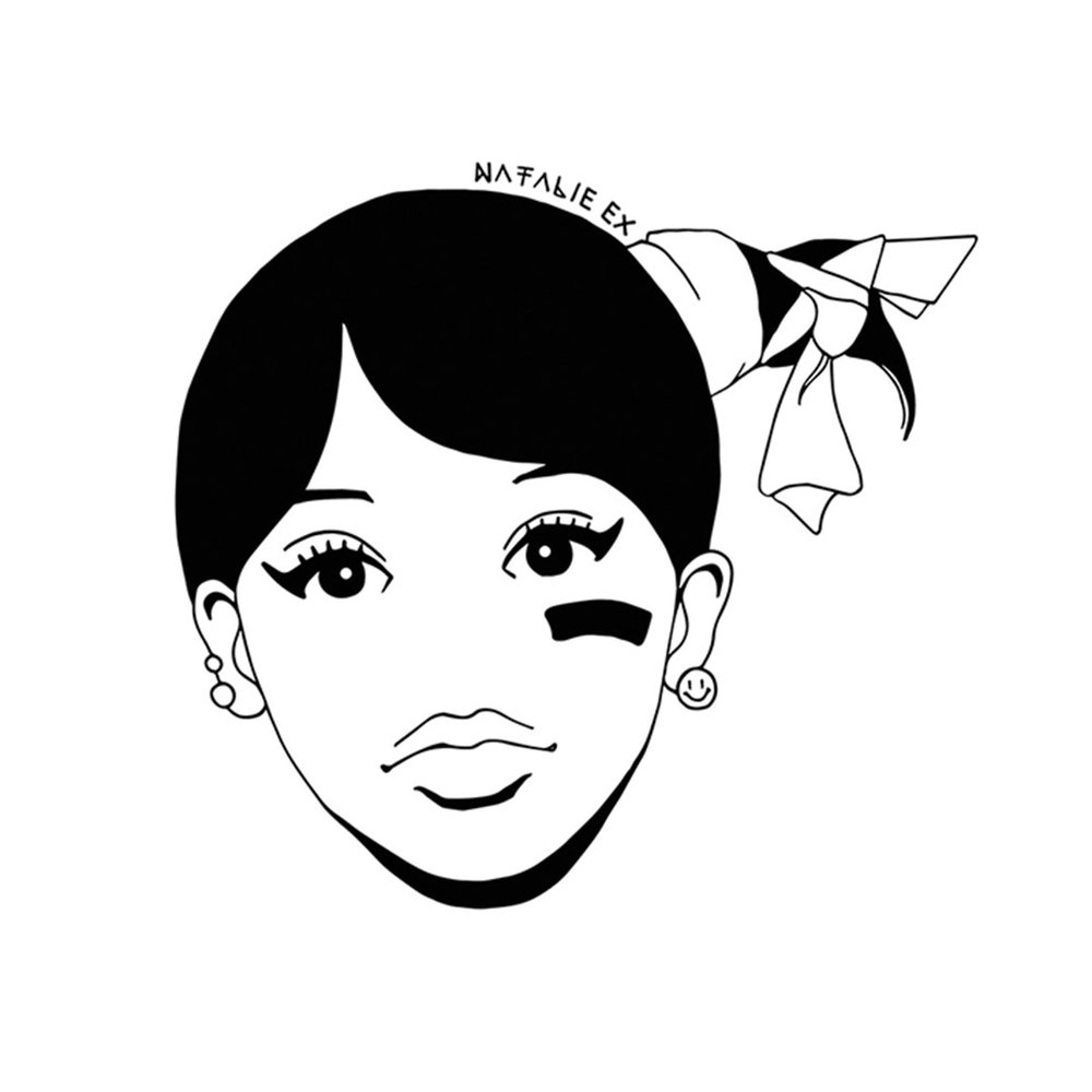 Line art style portrait illustration of Left Eye from TLC
