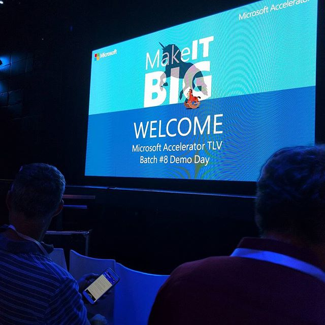 Excitement at the Microsoft Demo Day Batch #8 #brio_design