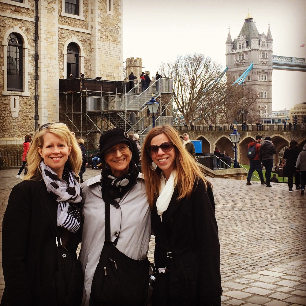 Carol, Ellen and Sarah at the Tower.JPG