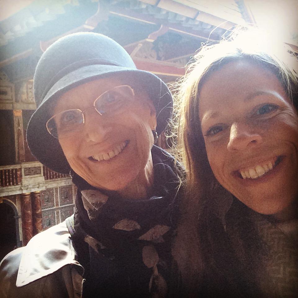 Carol and Sarah at the Globe.JPG