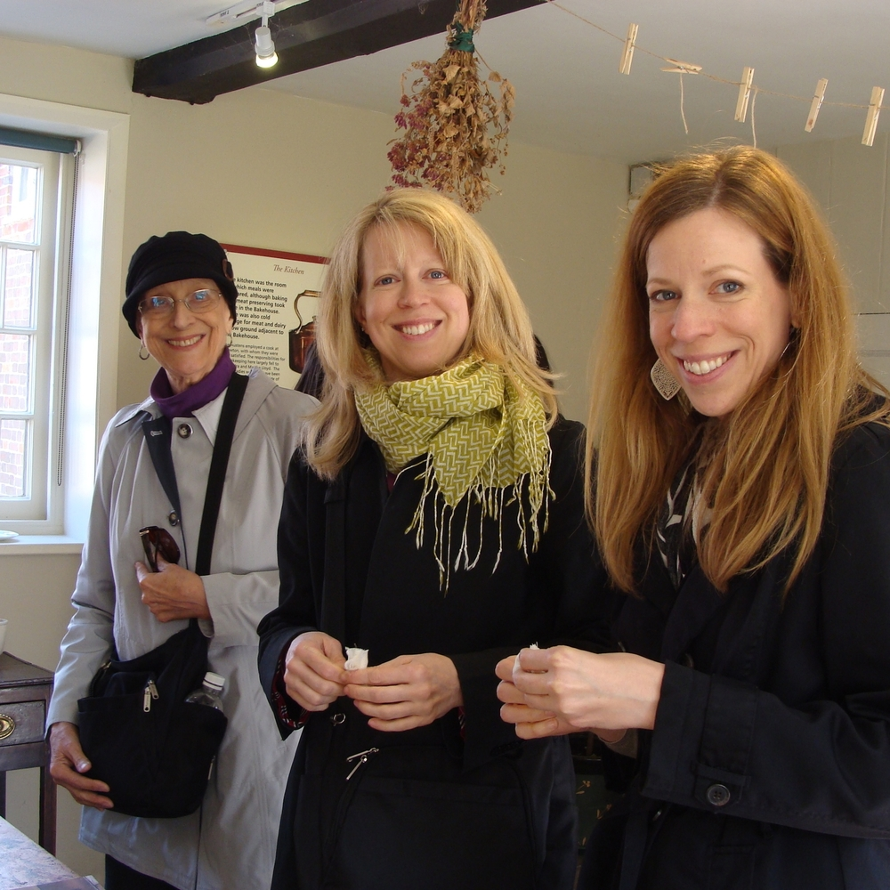 Mom, Ellen and Sarah in Jane Austen's Kitchen.JPG