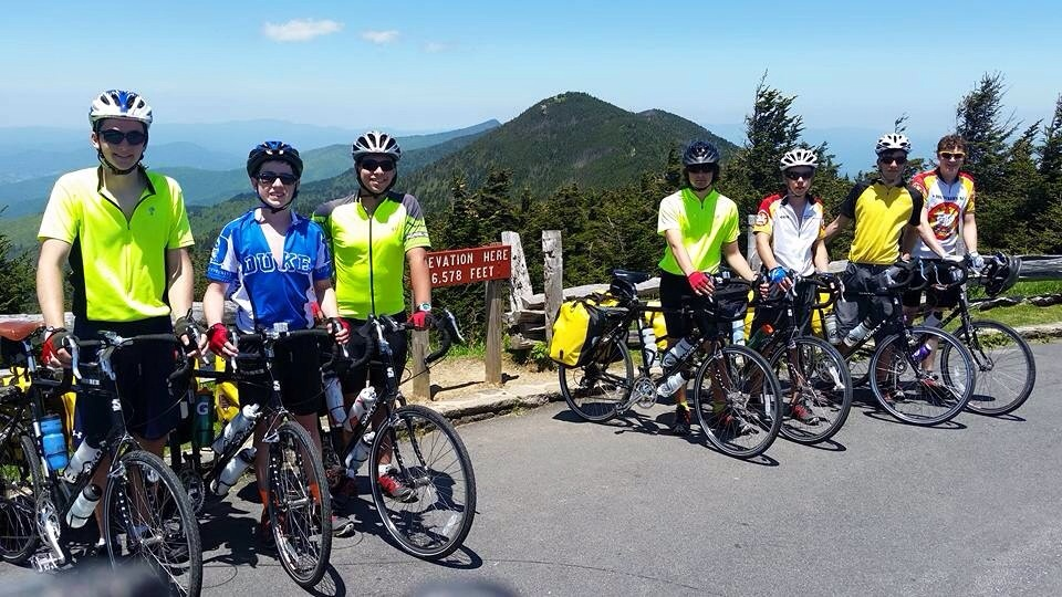 Atop Mount Mitchell. Well done.