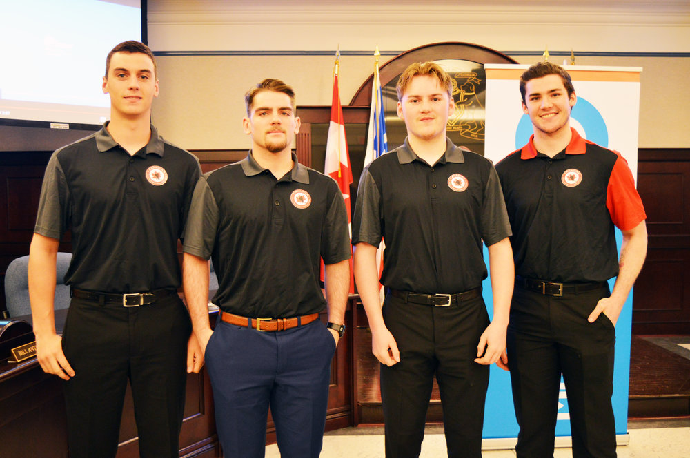 World junior ball hockey is coming to the City of Mount Pearl. The City and Hockey Newfoundland and Labrador announced on Tuesday that Mount Pearl will play host to the 2018 under-18 and under-20 International Street and Ball Hockey Federation World Junior Championships. The tournament will take place from July 4 to July 8 at the Glacier Arena. Four local players shown will play for the under-18 and under-20 teams including, starting from left: James O'Brien, Joel Bishop, Jack Keough and Mount Pearl resident Jesse Sutton.