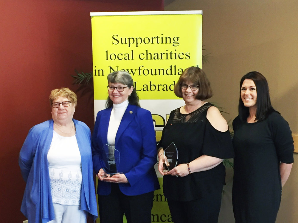 Mount Pearl residents Claudette Coombs and Zita Kavanagh-Taylor were nominated for the 2018 Gordon Seabright Volunteer of the Year Award. Coombs was named the Gordon Seabright Volunteer of the Year. Members of the Seabright family and nominees shown, starting from left, include: Madge Seabright (wife of Gordon Seabright), Claudette Coombs, Zita Kavanagh-Taylor and Seabright's great-niece Courtney Langille.