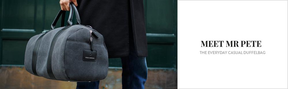 grey gym bag