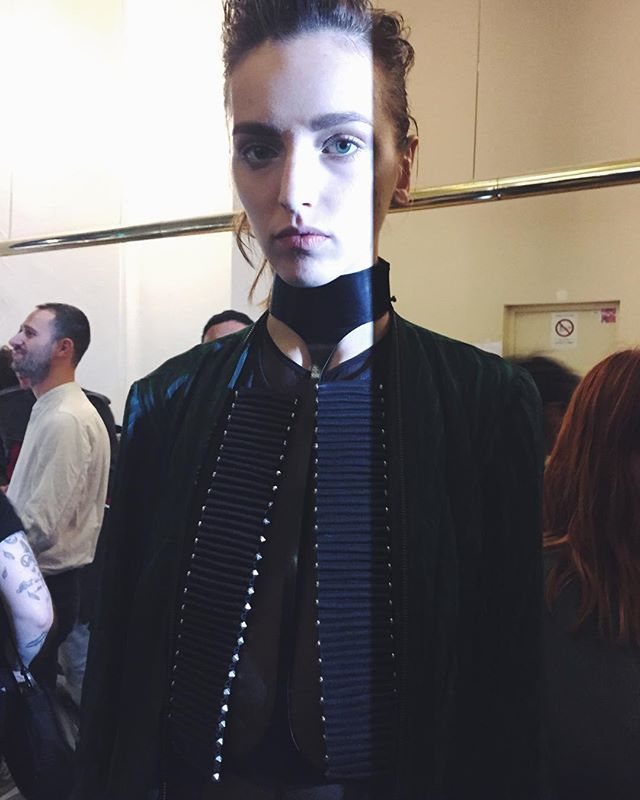 #STYLEFANSHOWS #PFWSS16 #BACKSTAGE: #AnnDemeulemeester. #stylefan #anndemeulemeesterss16 #pfw #ss16