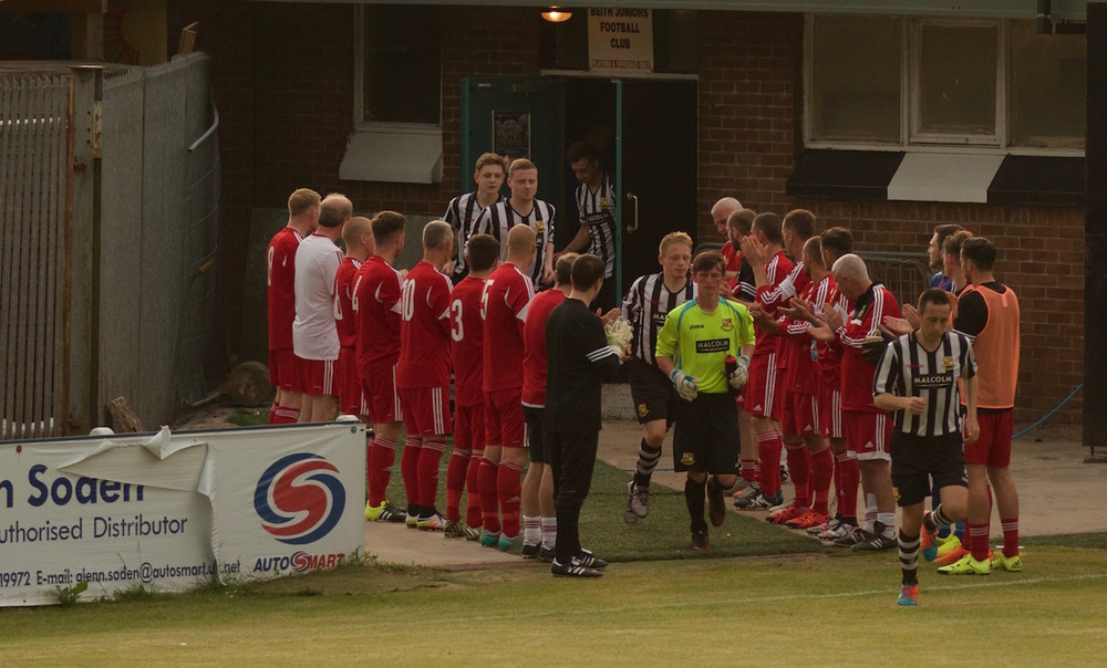 1 - Pollok create a gaurd of honour for Beith after winning the Scottish Junior Cup against Pollok two weeks ago copy.jpg