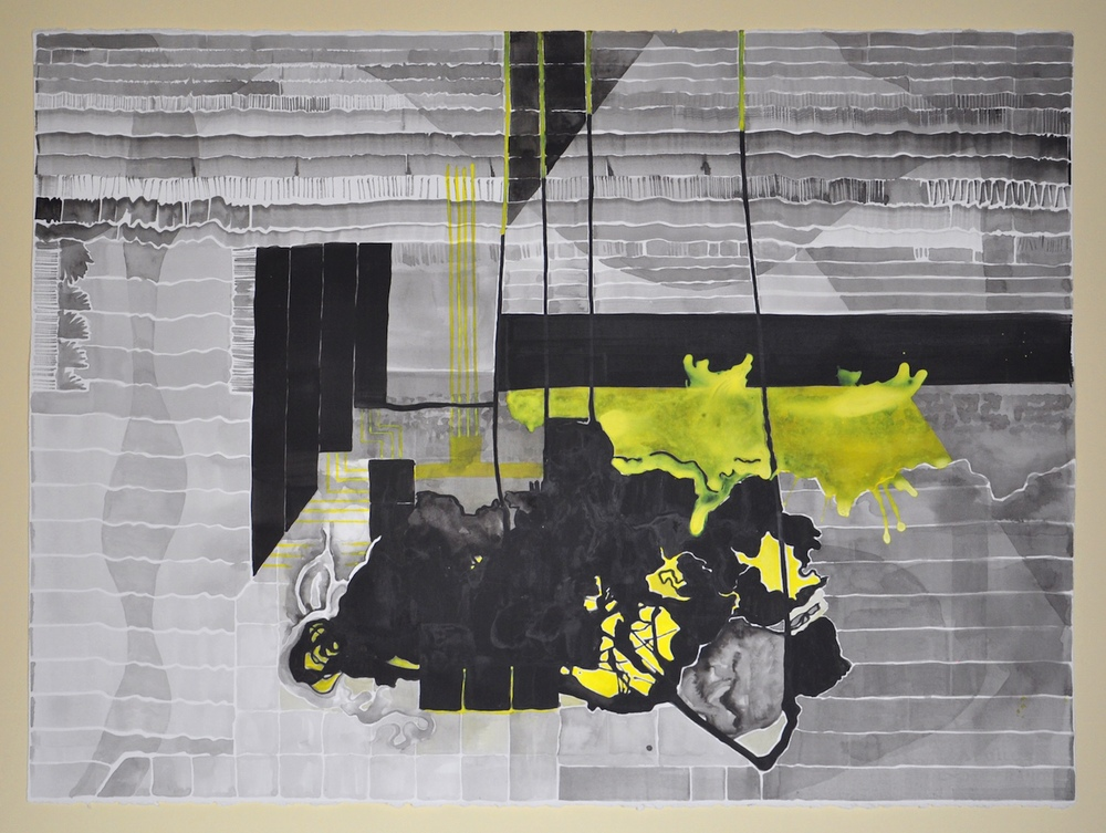 Untitled (Black and Yellow Series: 5), 2011