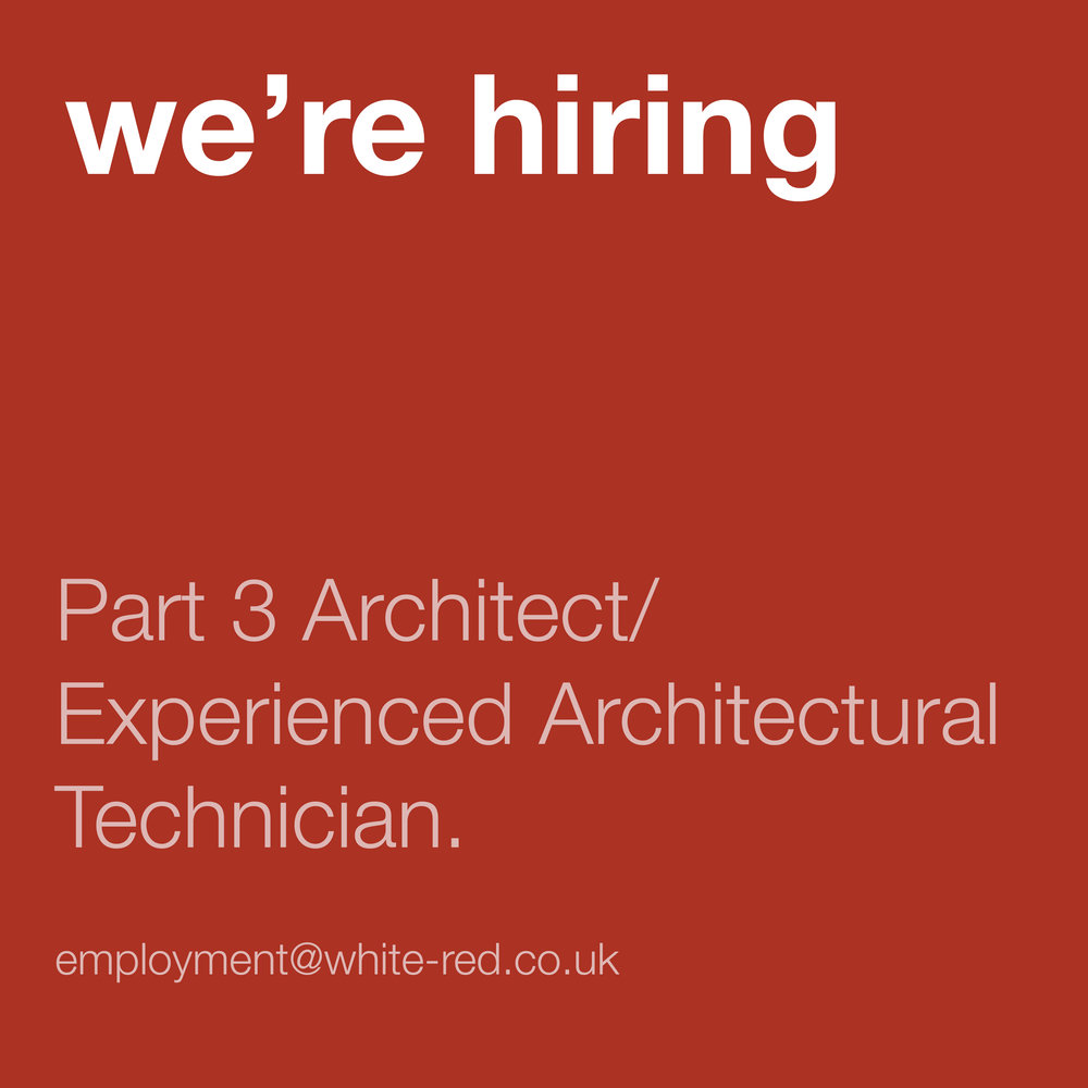 We're hiring. If you're interested in joining our studio in Shoreditch please email CVs to employment@white-red.co.uk