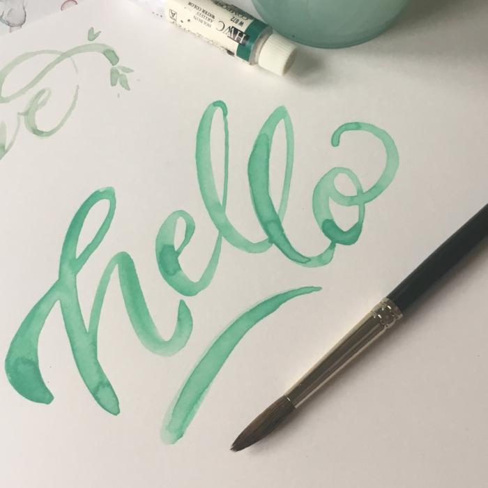 hello watercolor