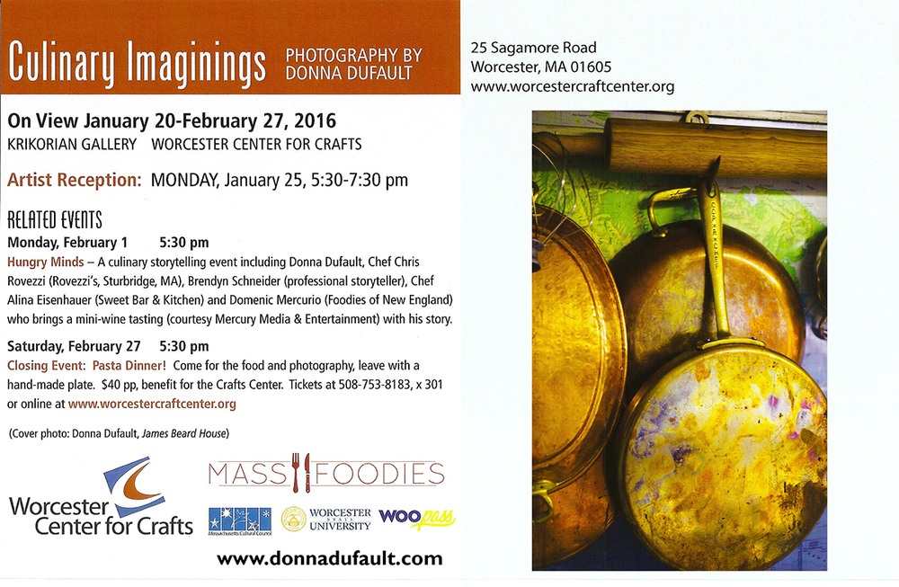 Donna Dufault Show Invite to Culinary Imaginings