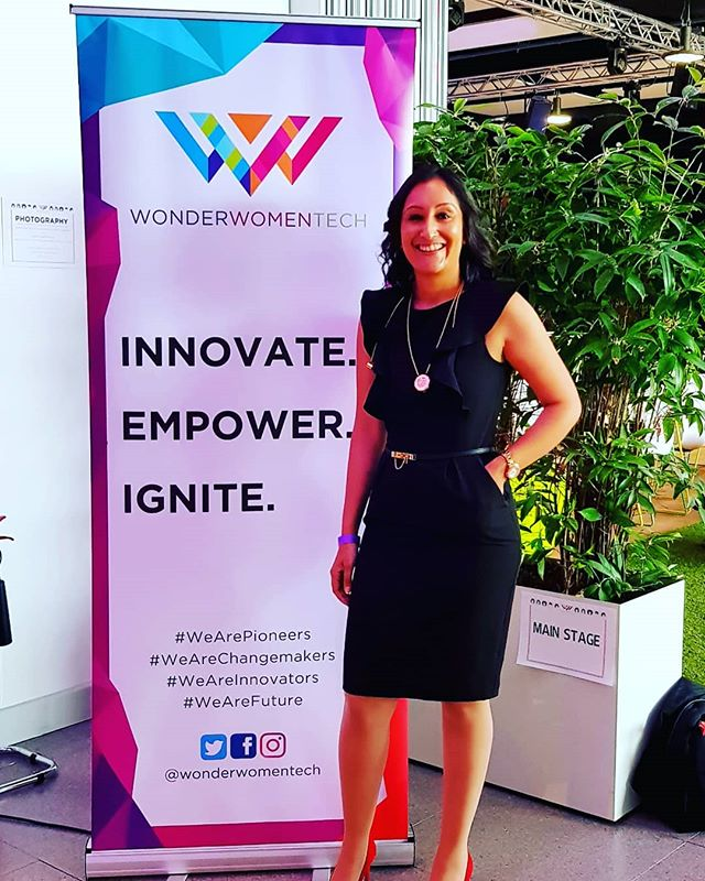 Energised. Inspired. Humbled. Fantastic day, fabulous content @wonderwomentech. Getting excited to do my talk on all things fashiontech. #weareinnovators #womenintechnology #innovation #fashtech #wearables #jewelleryearphone #jadoreadorn #necklaceheadset #stemeducation #GirlBoss #fashion
