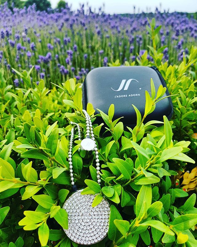 Beauty in a sea of lavender.. summer vibes! #sunshine #love #london #lavender #jewelleryearphone #fashiontech #wearable #smartfashion #music #apple #bleutooth #swarovski #jadoreadorn #workaccessory #beachaccessories #lifestyle #limitedstock #fourseasons