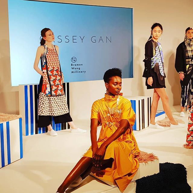 It's all happening at @londonfashionweek. Bold Patterns, fierce looks! #upandcoming #fashionista #walkthatwalk #ownyourstyle