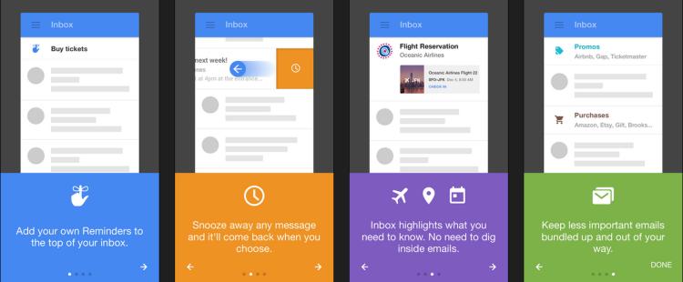 Google Inbox: mobile guidance