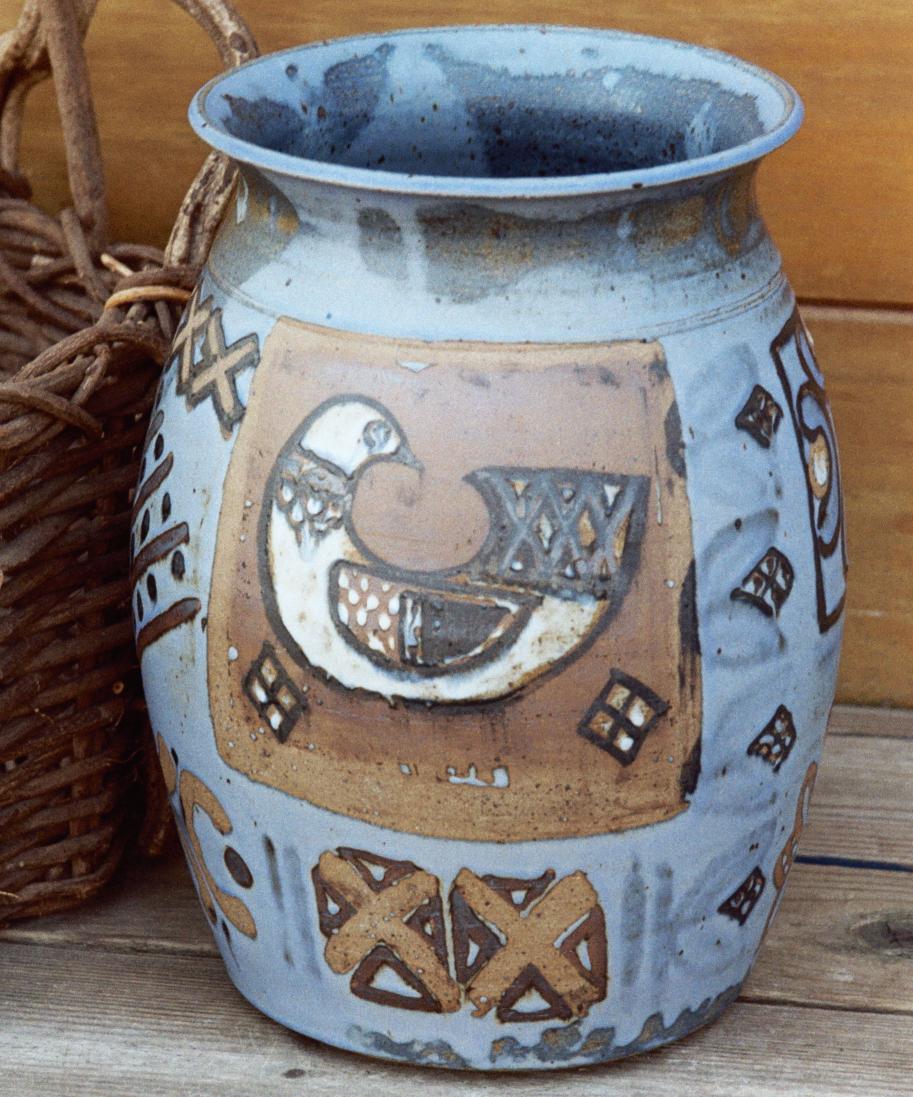 Contemporary Folk Art on Pottery