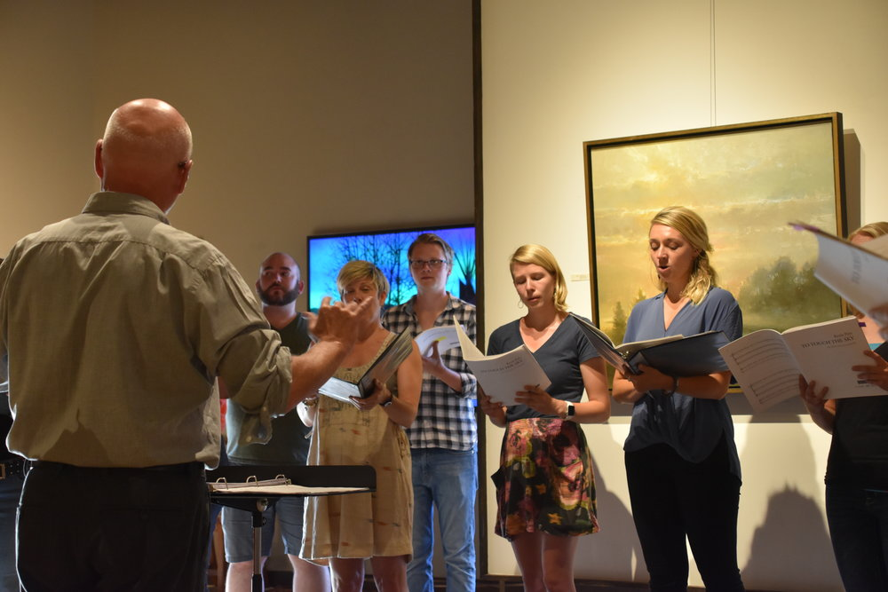 The Big Sky Choral Initiative performs at the Creighton Block Gallery in downtown Big Sky