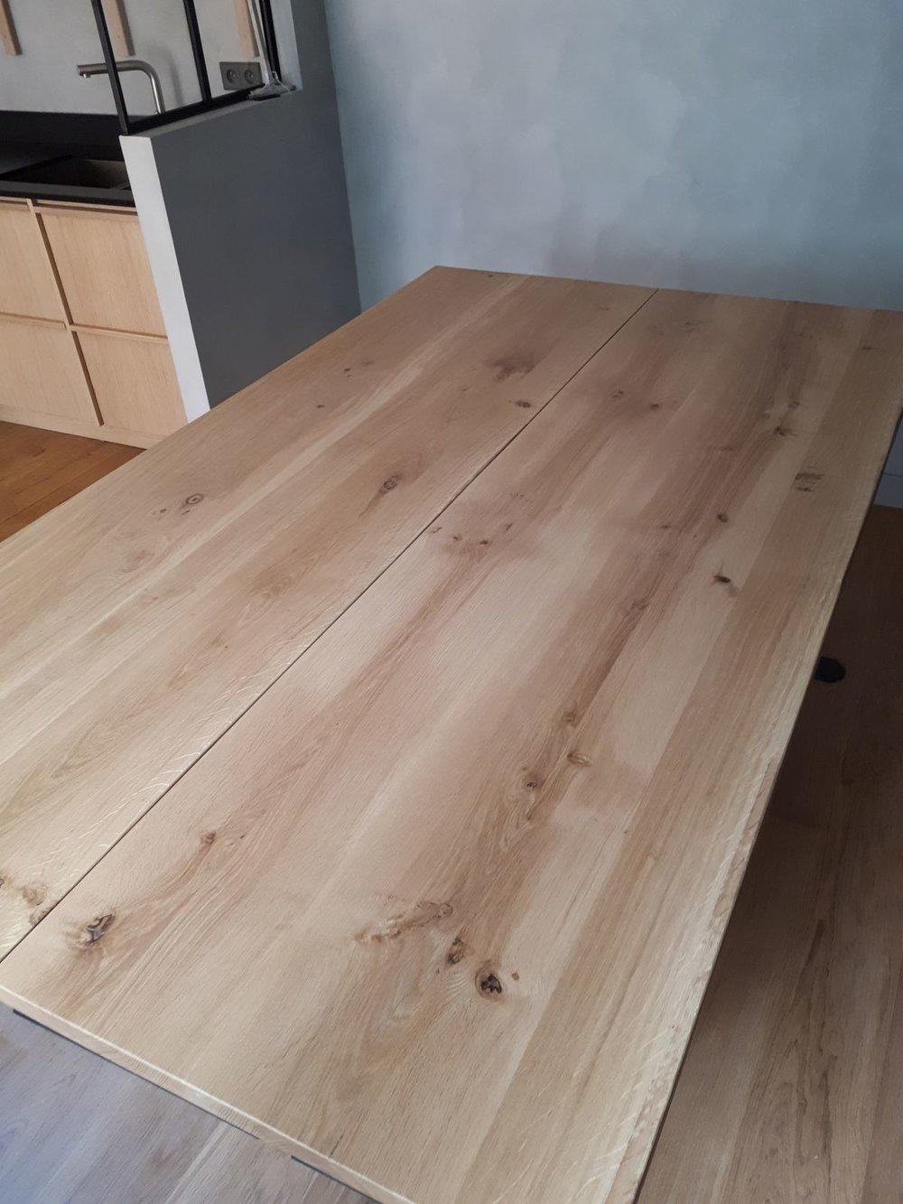 Tables jumelle - Chêne et acier