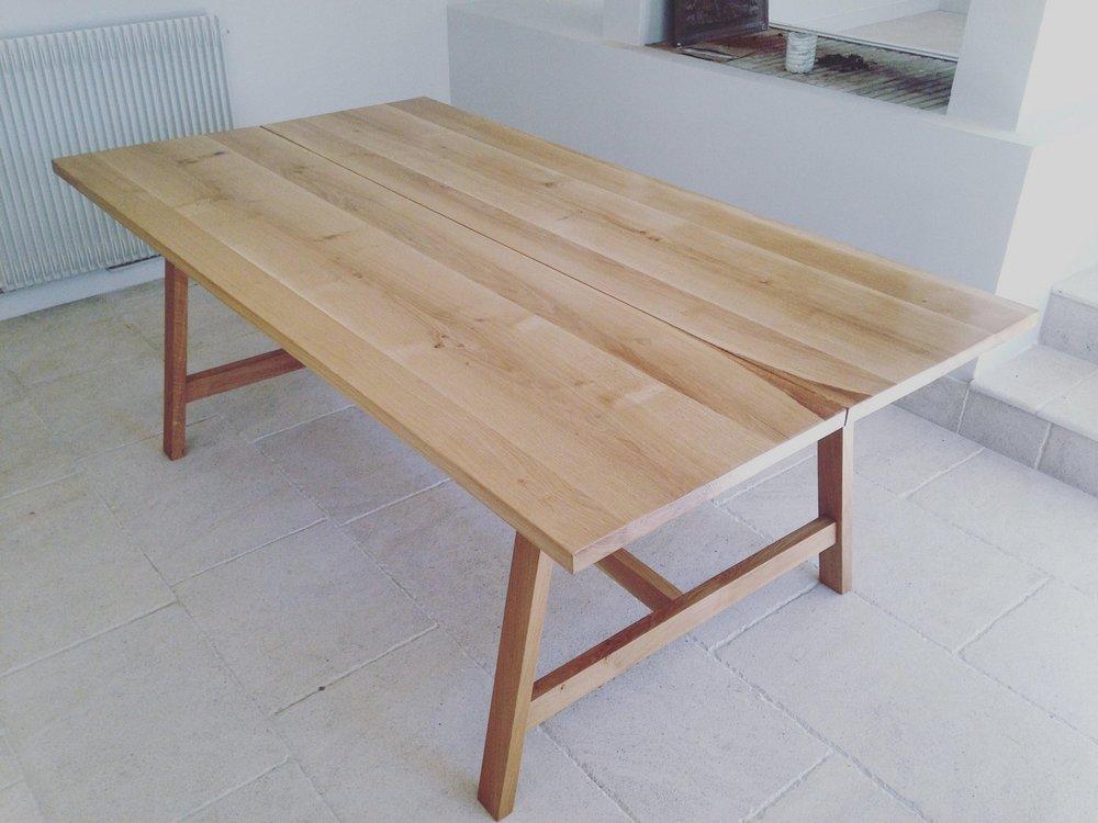 Table double plateau - Chêne massif