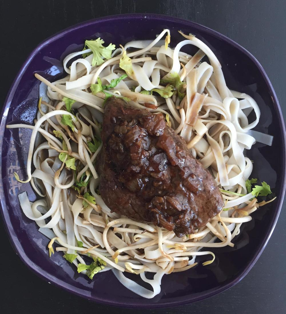 Vietnamese Beef with Rice Noodles