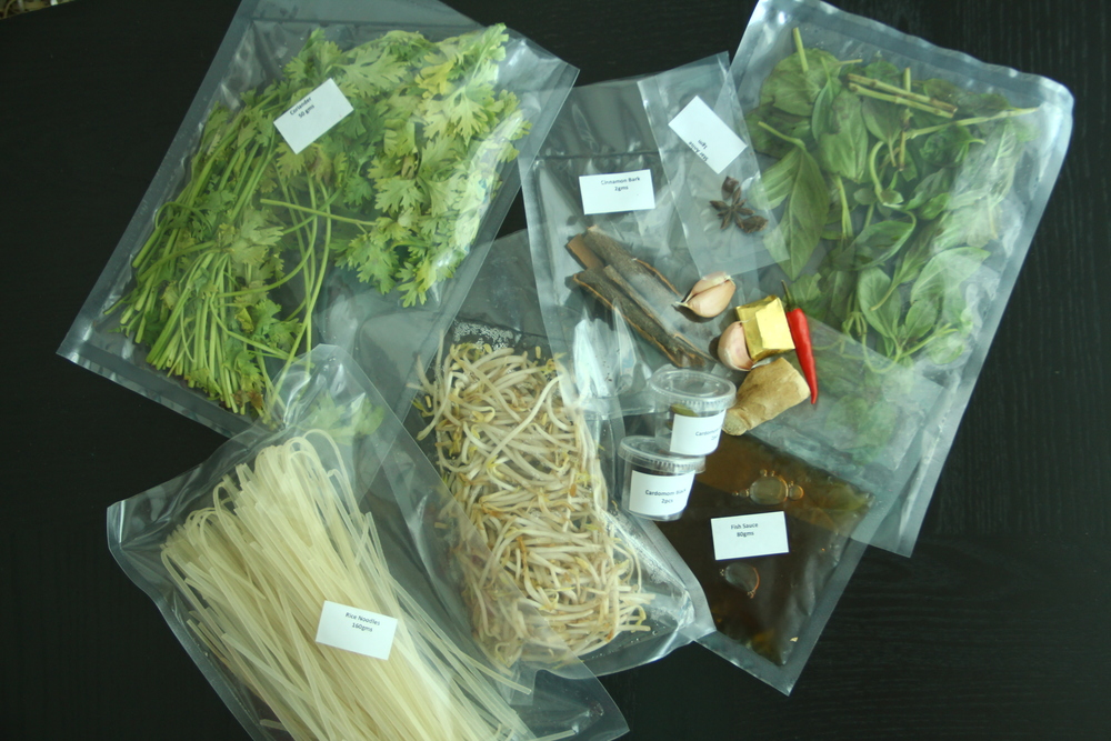 Vietnamese Beef & Rice Noodles Ingredients