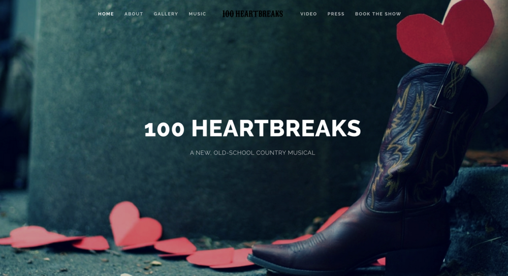 Design and content for musical  100 Heartbreaks