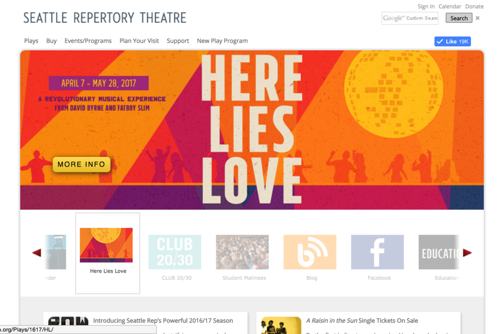 Seattle Repertory Theatre - Website Redesign