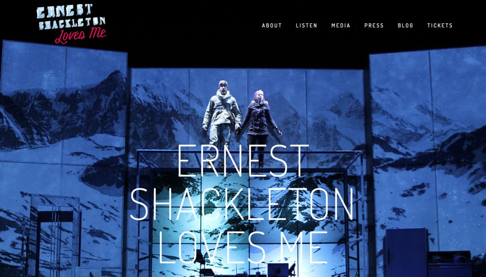 Ernest Shackleton Loves Me - Website Design