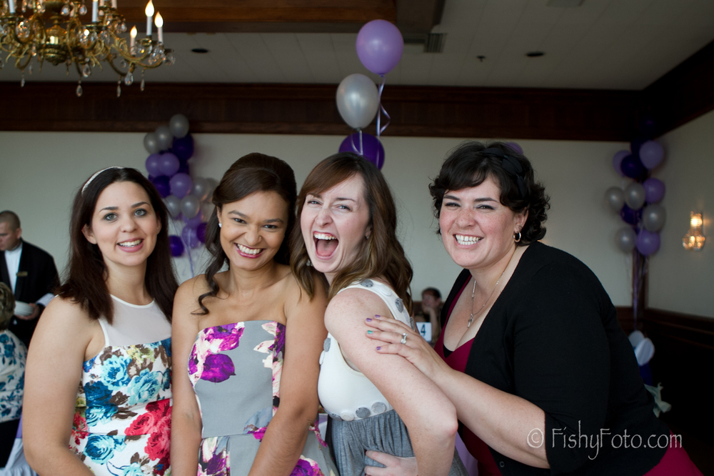 Happy girls at a bridal shower #fishyfoto