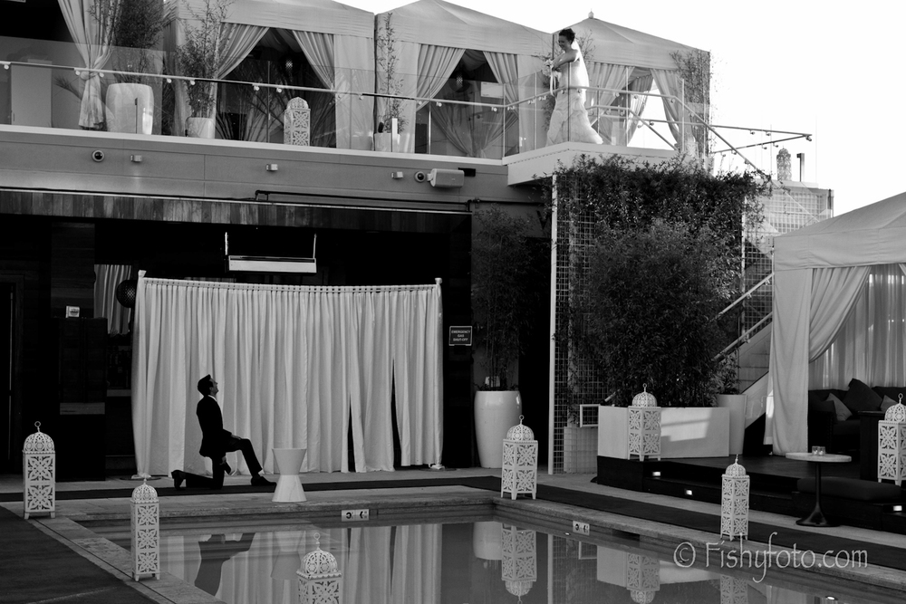 Romeo and Juliet style wedding at the W hotel.  #FishyFoto