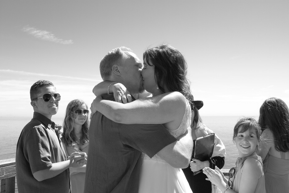 Wedding at the Point Dume lookout #fishyfoto