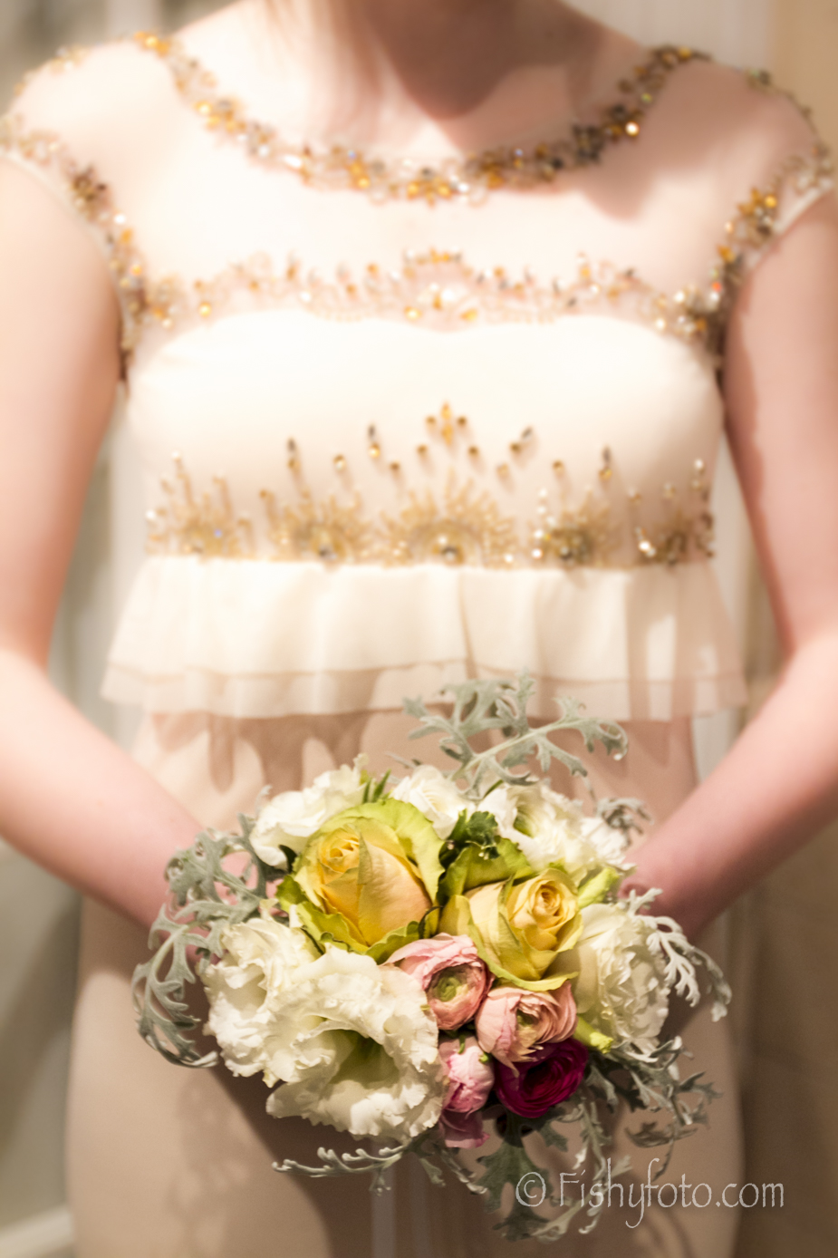 Bridesmaid with Bouquet #fishyfoto