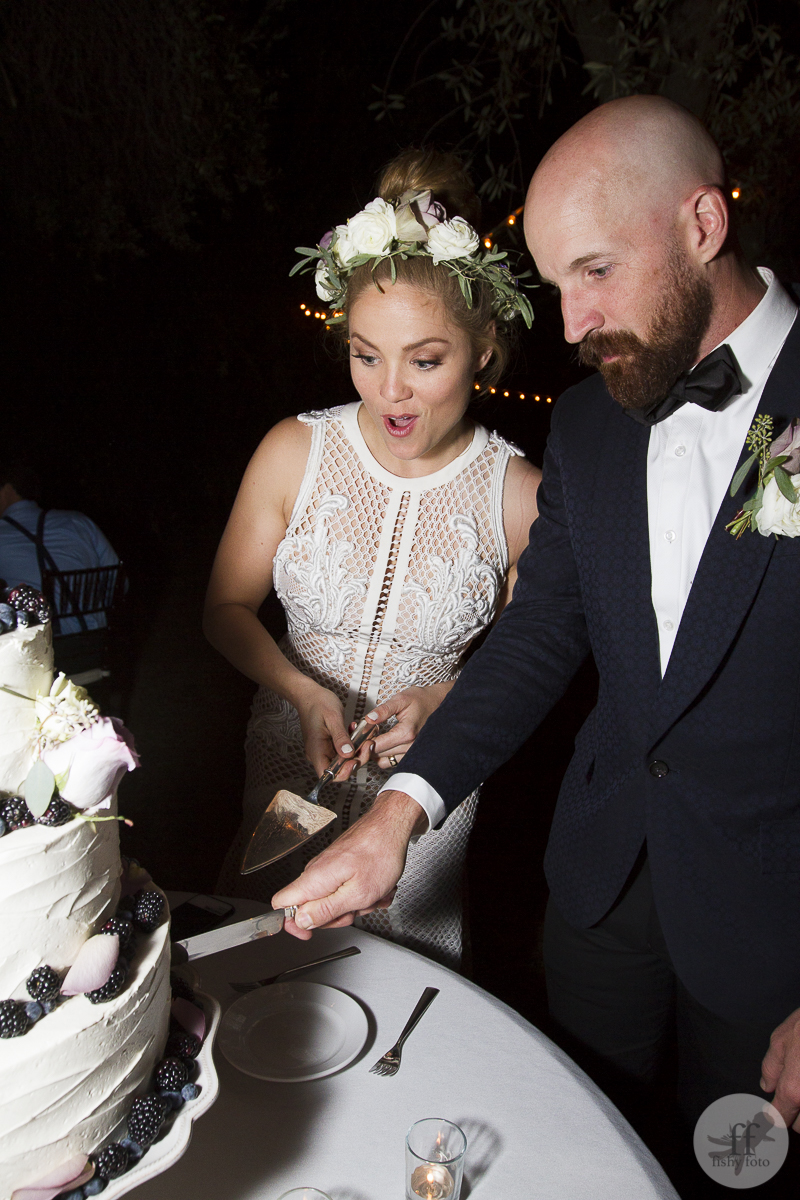 Erika & Cole cut cake #fishyfoto