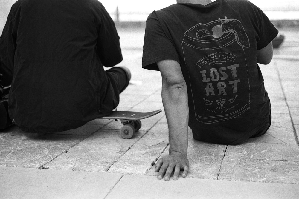 Tom Harrison and filmer Dan Magee checking the footage, Nike SB UK Sicily Tour, Messina, Sicily May 2011