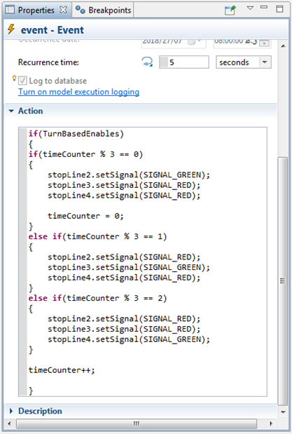 Figure           SEQ Figure \* ARABIC      4: Event details and Action code