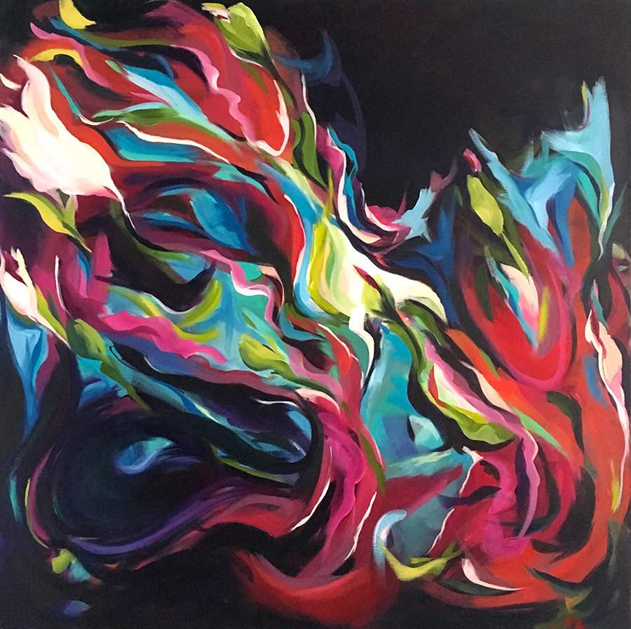 "Inception 36"" x 36"" acrylic"