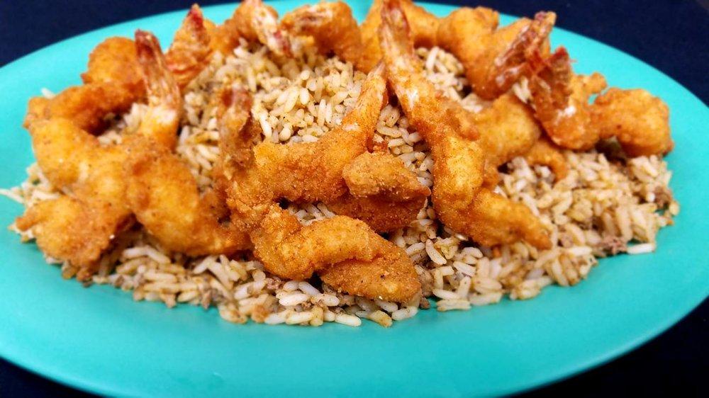 Fried Shrimp & Dirty Rice