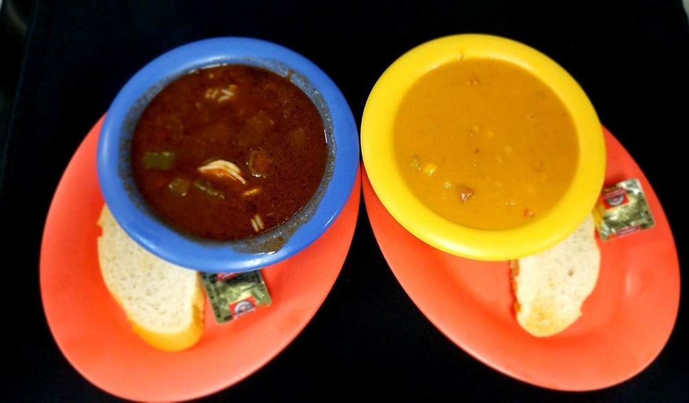 Shrimp Gumbo & Crawfish Bisque