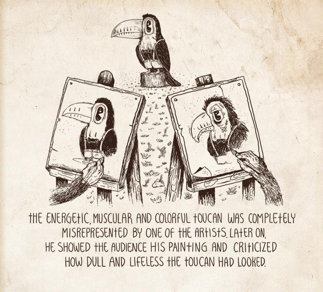 Illustrerer stråmenn. Bildet er hentet fra https://bookofbadarguments.com/ - en illustrert bok om logiske tankefeil som anbefales på det varmeste.