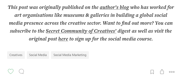 One of my posts which was really popular on my website that I re-purposed for Medium