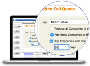 Turn search results into <b>instant call queues</b>...