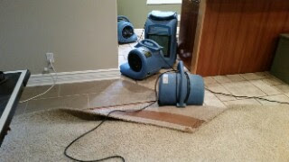 This was a small WATER LOSS in Alpine, Ut that we took care of.  We dried the CUPBOARDS, walls, carpets and pad