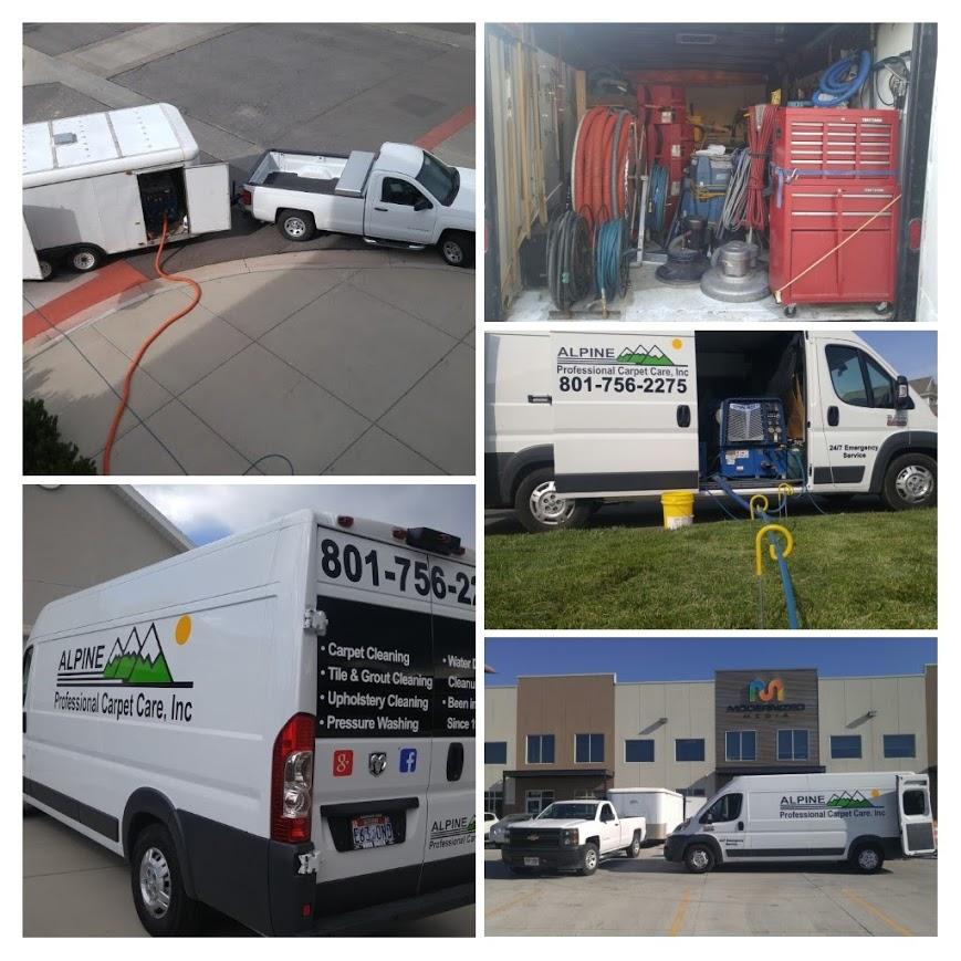 this is our utah county carpet cleaning van and our carpet cleaning trailer